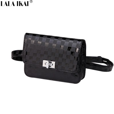 Hot Sales Mini Bags Women PU Leather Waist Bag Casual Plaid Package Ladies Weave Waist Pack Solid Good Quality BWB0994-4.5