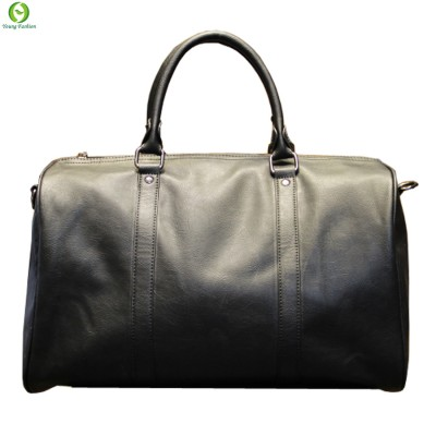 Fashion mens leather travel bag vintage duffle handbags large men business luggage bag with shoulder strap sac voyages hommes
