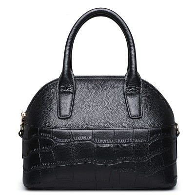 100% genuine leather handbags women shell bag famous brands 2019 new fashion lady crocodile handbag female tote high quality