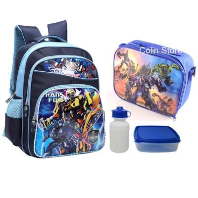 1 set 16 inch school bag for children cute transformers school bags korean new brand school backpack mochila escolar school bag