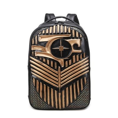 Gothic Steampunk Unique backpack cool bag steampunk fashion Backpacks for Teenage Girls Women PU Leather Backpack Men School Bag Casual Vintage Large Capacity Black Travel Backpack