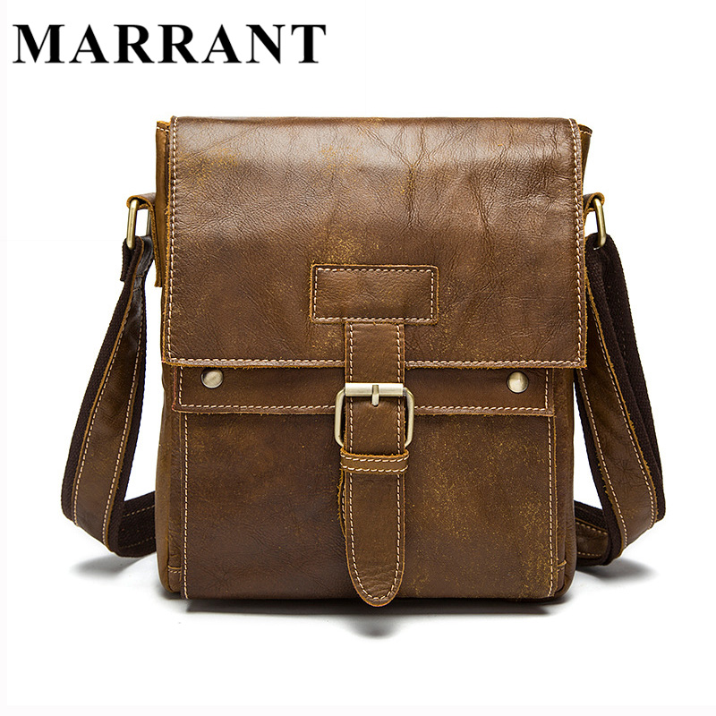 f329b12340f MARRANT Genuine Leather Men Bags Hot Sale Male Small ...