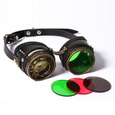 Cassic Men Punk Sun Glasses Goggles Sunglasses Halloween cosplay Super Retro Male Original Brand Designer