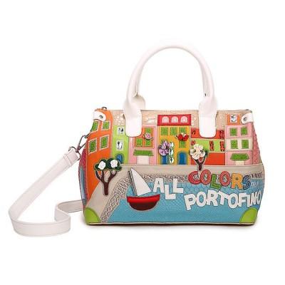 2019 Women Shoulder Bag Italy Braccialini Handbag Style Retro Handmade Bolsa Feminina For Ladies Candy Bolsos Cartoon Totes bags