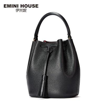 EMINI HOUSE Fashion Genuine Leather Bucket Bag Women Handbags Women Messenger Bags Luxury Shoulder Bags Crossbody Bags For Women