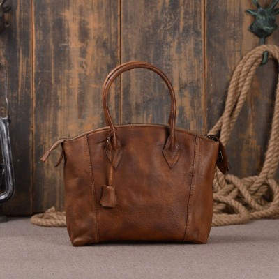 2019 Hot Sale Hobos Genuine Leather Totes Women Tote Bags Designer Cowhide Shoulder Real Vintage Feminina Bag Womens Handbags