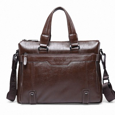 ea60f8342 New Fashion Commercial Briefcase For Man Business Crossbody Bags Men's  Leather Casual Shoulder Bag Sacoche Homme Bolsa Masculina