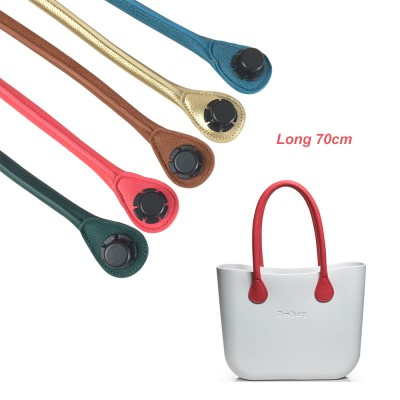 8de0ad0d96 New 1 Pair 70CM Long Size Soft Pu Faux Leather Handles for Obag AMbag  Classic Mini O Bag Women s Bags Shoulder Handbag O Bag
