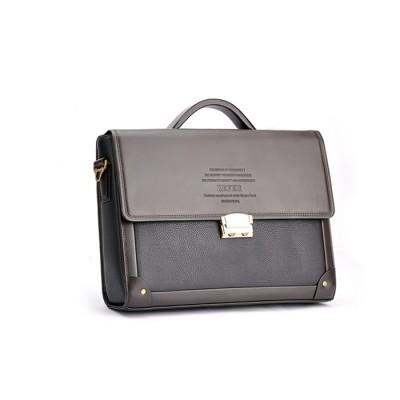 2019 New Men Business Briefcase  with Lock Fashion Shoulder Bag  Famous Designer Gentlemen Leather Laptop Bag Classic Style Case