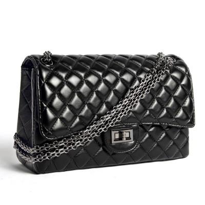 Luxury Fashion Brand Real Sheepskin handbags Vintage Elegant women messenger bags Classic Chain Flap Super star's bags