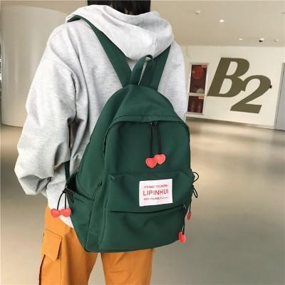 2019 New Waterproof Nylon Backpack for women Heart Drawstring Travel Bag Teenage Girls Schoolbag Women backpack