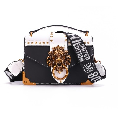 Fashion Metal Lion Head Mini Small Square Pack Shoulder Bag Crossbody Package Clutch Women Designer Wallet Handbags