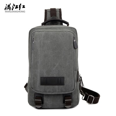 Trunk Shoulder Bag European American Crossbody Bag Canvas Messenger Bag Man Chestpack Bag 1261
