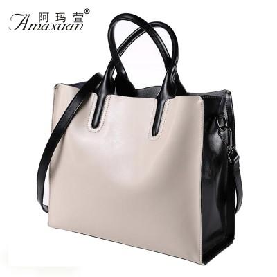 New Fashion Casual Women Handbag Genuine Leather Women Shoulder Women Leather Bag Leisure Bucket Bag Bags Handbag Women BH1122