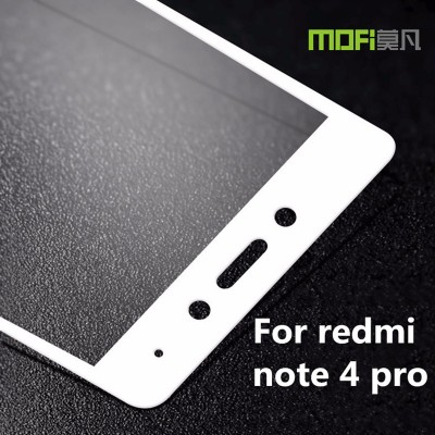 2016 Xiaomi Redmi Note 4 Pro Prime glass tempered film MOFi original xiomi redmi note 4 full cover screen protector gold 5.5inch