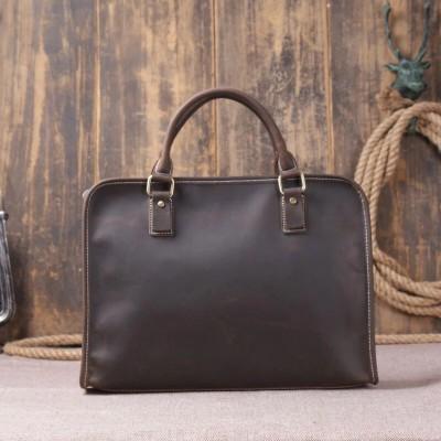 15 Leather Laptop Bag Genuine Leather Men's Bag Leather Briefcases Men Handbag Business Bag Man Bag Vintage Shoulder Messenger