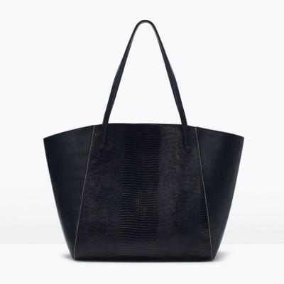 2 pcsset 2019 Winter Leather Women Bags Ladies Hand Bags Clear Designer Handbags Brand Luxury Snake Skin Shopper Bag Tote