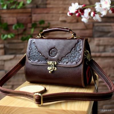 Womens Vintage Crossbody Leather messenger bag
