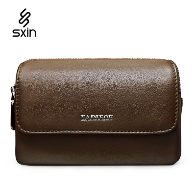 Leather Fanny Pack Genuine Leather Men Waist Pack Brand Design Fashion Brown Phone Waist Bag for Mobile Phone Fanny Pack Coin Black Purse