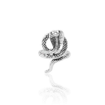 Gothic Silver Cobra Snake Men Ring Punk Cool Man Animal Rings Male Motor Biker Jewelry Accessories Drop Shipping Bague Homme