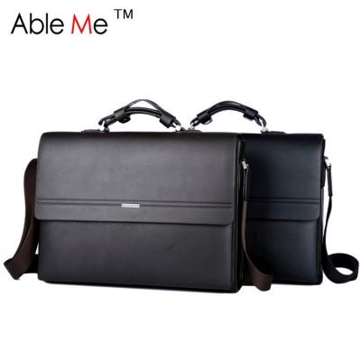 Simple Elegant Three Size Men Business Briefcases PU Leather Men Handbag Multifunction Messenger Tote Bag Men Briefcase