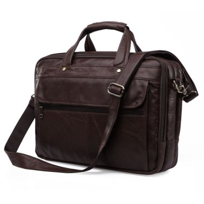 Maxdo High Quality Genuine Leather Men Messenger Bags Briefcase Portfolio 14'' Laptop Bags Business Travel Bag #M7146