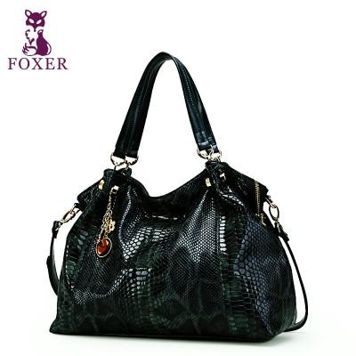 FOXER 2019 women genuine leather handbag  designer handbags high quality shoulder bags famous brand tote women messenger bags
