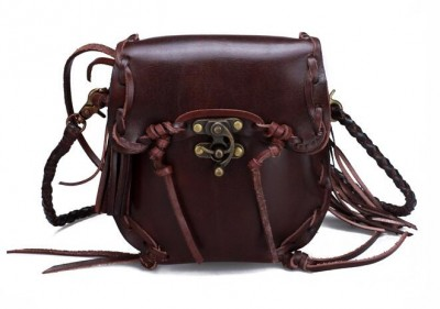 Vintage Cool Tassel Designer Genuine Leather Waist Bag Reak Cow Leather Phone Bag Belt Women Messenger Bag Retro Waist Packs
