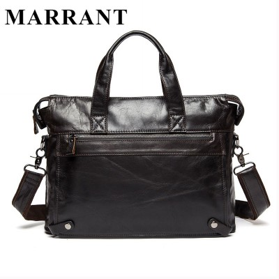 MARRANT Genuine Leather Men Bags Man Business Laptop Bag Briefcase Men Crossbody Shoulder  Handbag  Men's Messenger Bags 9103