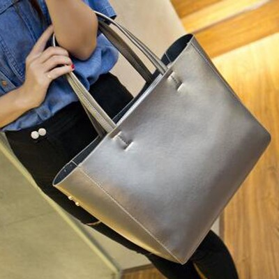 Luxury Women Designer Handbag Silver Portable Bucket Ladies Tote Shoulder Sac A Main High Quality Brand Satchel Bag