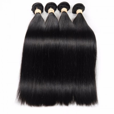 HCDIVA Brazilian Virgin Straight Hair 4 Bundles Straight Hair Bundle Deals Brazilian Straight Hair Weaving Silky Soft Hair Bundles