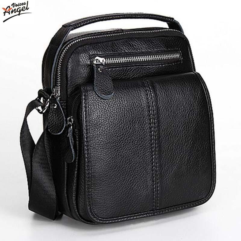 93e4cbd7f05 Fashion Genuine Leather Men's Messenger Bags Man Portfolio Office ...