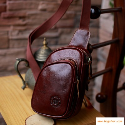 Brown Leather Chest Pack
