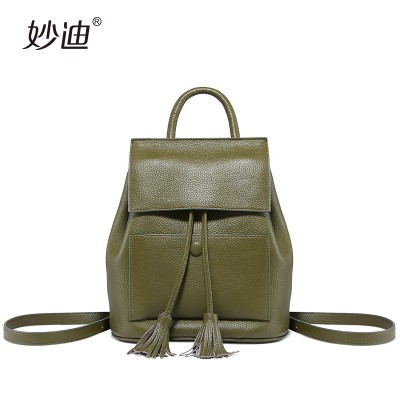 women Genuine Leather shoulder school bag female new mini backpack 2019 Retro College small backpack