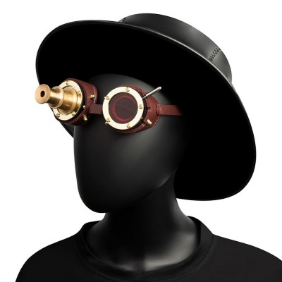 Cosplay Vintage Victorian Rivet Steampunk Goggles Glasses metal Cyber Gothic