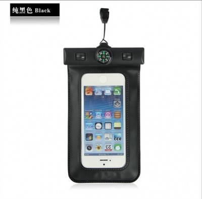 Waterproof Cell Phone Pouch 100Pcs/Lot Compass Thermometer Waterproof Cell Phone Case Cover Pouch Swimming Underwater Diving Bag For iPhone 6 6 Plus 5 5S 5C