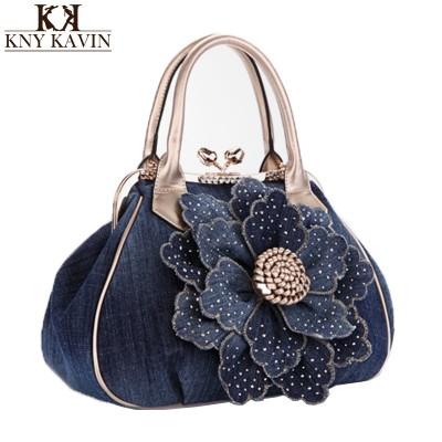 Women Handbags New Women Handbag With A Big 3D Flower