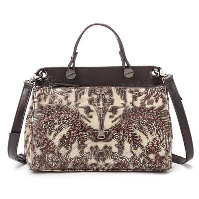 2017 New Women's Shell Bags Female Genuine Leather Embossed Floral Print Handbag Famous Brand Designer Messenger Bag Clutch Tote