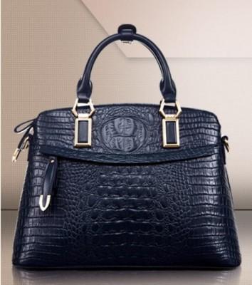 Real Crocodile Pattern HandBags Head Layer Cowhide Handbags For Women Inclined Shoulder Bags