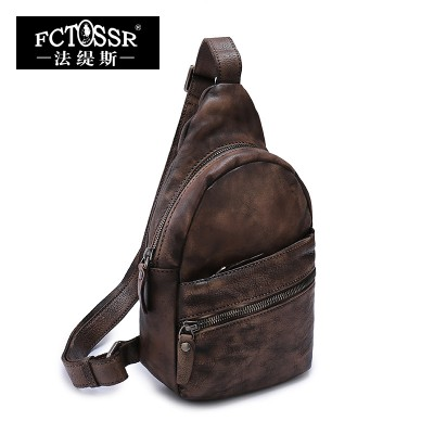 2017 Vintage Genuine Leather Bag Cow Leather Handmade Messenger Bag Women Casual Travel Bag