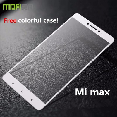 xiaomi mi max tempered glass MOFi original xiaomi mimax glass xiaomi max screen protector full cover white completely cover 6.44