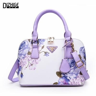 Printing Floral Fashion Women Bag Brand Shell Leather Bags Women Handbags Designer Summer Shoulder Bags Sac A Main Femme 2019