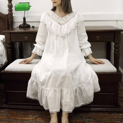 New Womens Lolita Princess Sleepshirts Vintage Palace Style Dress Lace Nightgown Victorian Nightdress Ruffles Sleep Loungewear