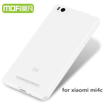xiaomi mi4c case tpu back cover silicone cover accessories transparent mofi original ultrathin clear xiaomi mi 4c 5 inch