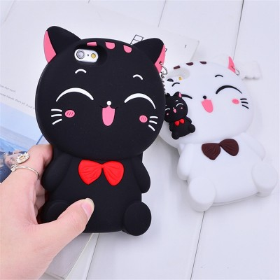 3D Case Silicon Soft Cat Phone Case For OPPO F5 F7 F1S A31 A33 A35 A37 A59 A71 A73 A75 A79 A83 A5 A3S Cartoon Case Back Cover