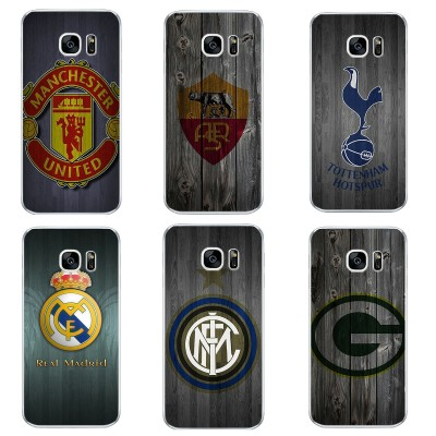 For Samsung Galaxy J3 J5 J7 2019 Phone Case S4 S6 S7 Edge Plus Shell C5 C7 Transparent Cover Soft Silicon Wood Football Pattern