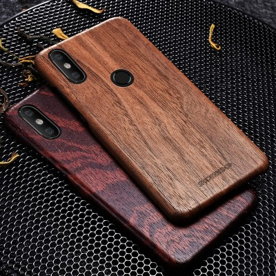 Wood Phone Case For Xiaomi Mi8 Wooden+Fiber Perfect Combination Wood Cover For Xiaomi 8 Ultra-Thin Wooden Coque
