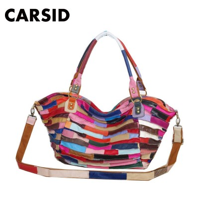 Wholesale Women Messenger Bags Designer Genuine Leather Handbag Brand Sheepskin Large Tote Bag