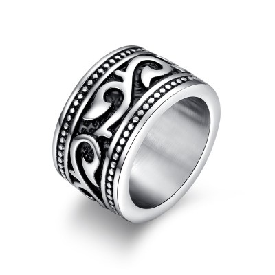 Vintage Vine Rings for Men Women Stainless Steel Gothic Biker Viking Jewelry