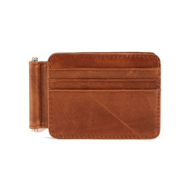 New Men Small Wallet Genuine Leather Men Credit ID Card Holder RFID Coin Purse Card Holder Wallet Money Male Portomonee